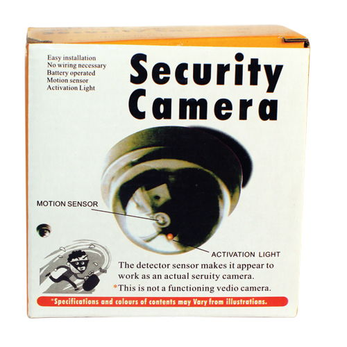 Dome Fake Security Camera with Flashing LED DM-DOML