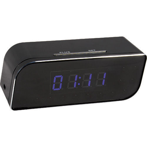 WIFI Black Table Clock HD Hidden Camera