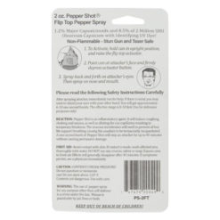 Pepper Shot 2oz 1.2% MC Flip-Top Pepper Spray |