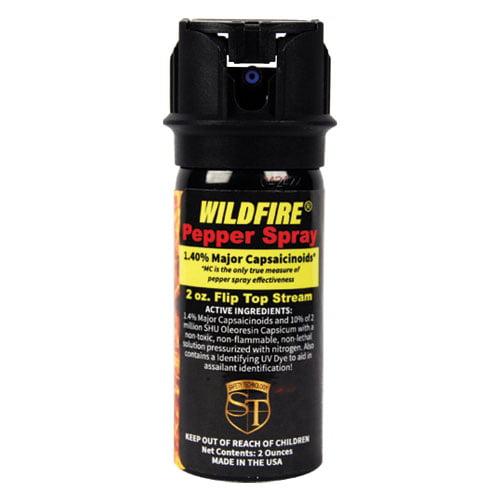 Wildfire 2oz Flip top Actuator Pepper Spray Stream