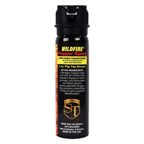 Wildfire 18% 4oz Flip Top Actuator Pepper Spray Stream
