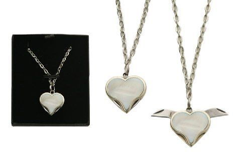 Mother of Pearl Heart Necklace / Knife