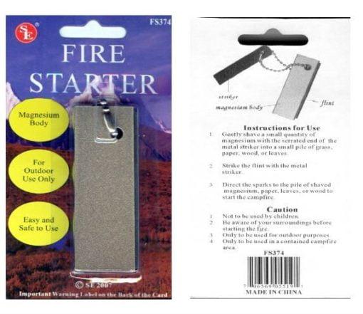 Large Magnesium FIRE STARTER |
