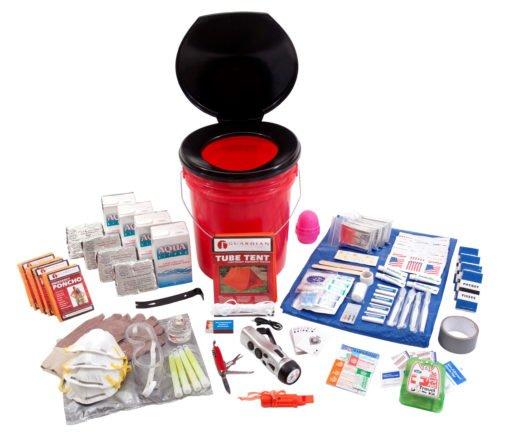 4 Person Guardian Bucket Survival Kit |