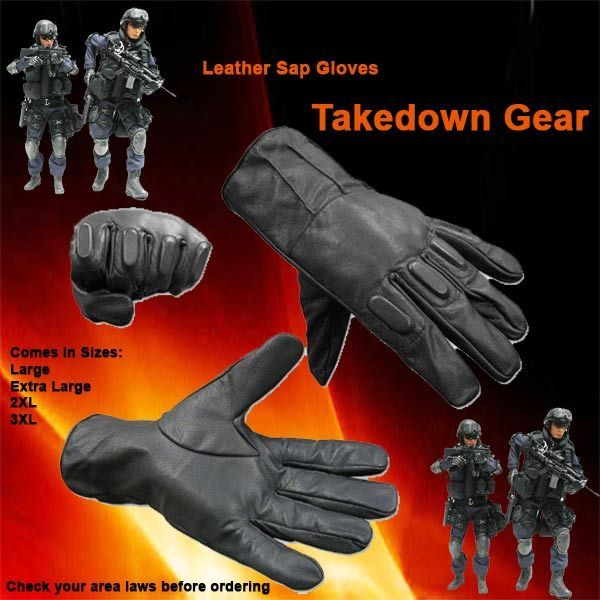 Sap Gloves Steel Shot Filled Gloves Law Enforcement