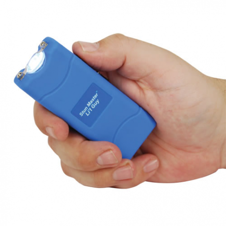 12 Million Volt Rechargeable Stun Gun Flashlight by StunMaster - Blue