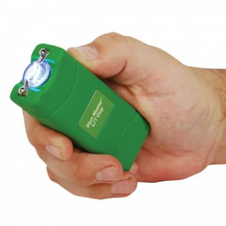 12 Million Volt Rechargeable Stun Gun Flashlight by StunMaster - Green