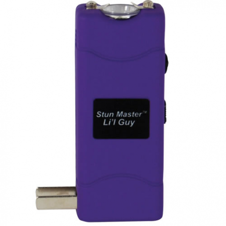 12 Million Volt Rechargeable Stun Gun Flashlight by StunMaster - Purple