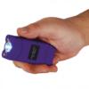 12 Million Volt Rechargeable Stun Gun Flashlight by StunMaster – Purple
