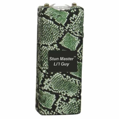 12 Million Volt Rechargeable Stun Gun Flashlight by StunMaster - Snakeskin
