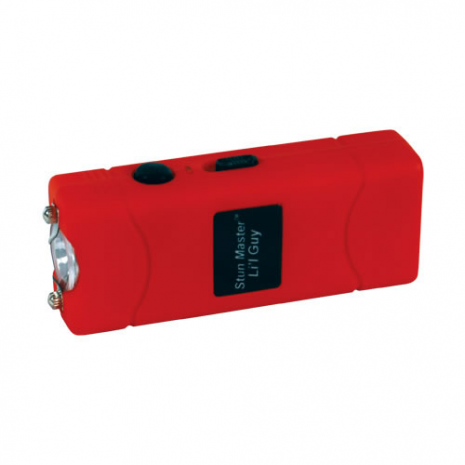 12 Million Volt Rechargeable Stun Gun Flashlight by StunMaster - Red