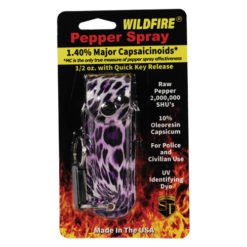 Wildfire 1/2oz Pepper Spray – Leopard Print Holster