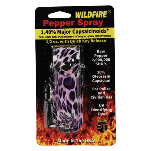 Wildfire 1/2oz Pepper Spray   Leopard Print Holster