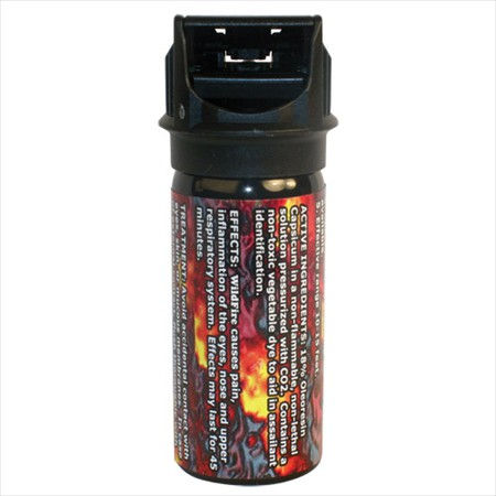 Wildfire 18% 2oz Flip top Actuator Pepper Spray Stream