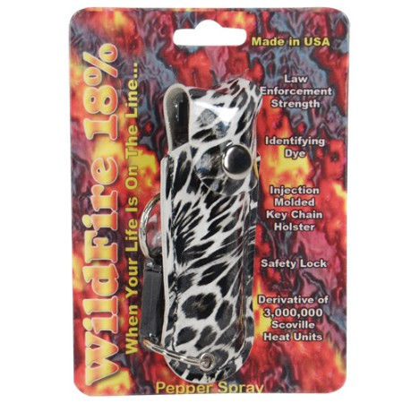 Wildfire 1/2oz Pepper Spray   Leopard Print Holster