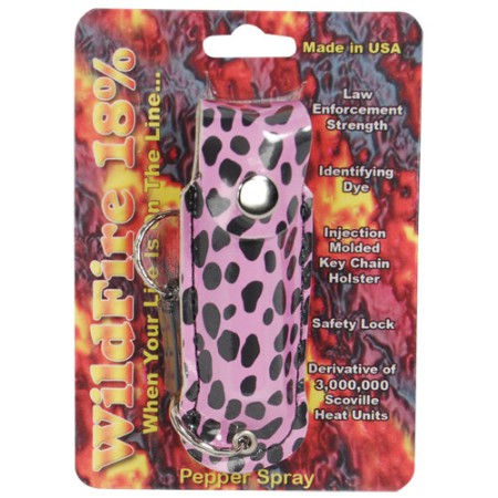 Wildfire 1/2oz Pepper Spray   Cheetah Print Holster