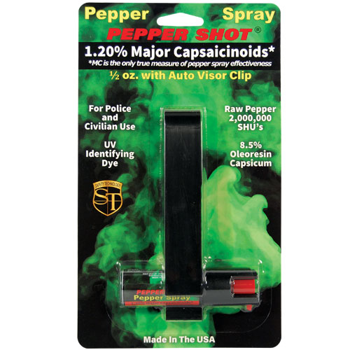 Pepper Spray with Visor Clip 1/2 oz |
