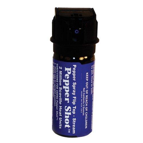Pepper Shot 2oz 10% Flip top Actuator Pepper Spray Stream