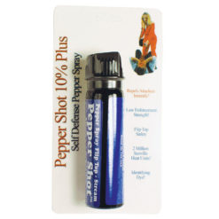 Pepper Shot 4oz 10% Flip top Actuator Pepper Spray Stream