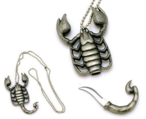 Scorpion Necklace Knife Supreme Defense