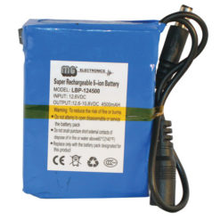 Lithium-Ion Covert Battery Pack 12v 4500mAH
