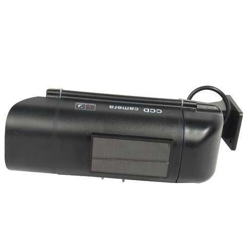Solar Powered Dummy Camera – Black DM-SOLAR-BLK