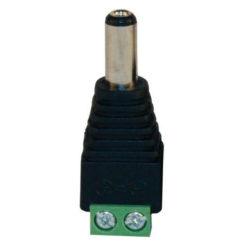 Male DC power connector