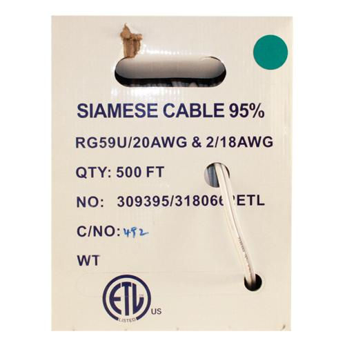 500 Foot Siamese RG59 Cable