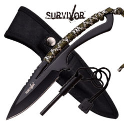 Full Tang Survival Knife W/ Fire Starter