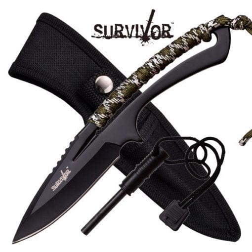 Full Tang Survival Knife W/ Fire Starter