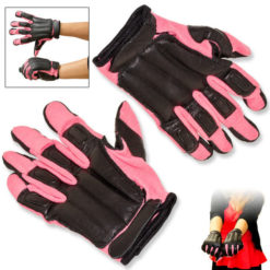 Mesh / Leather PINK Sap Gloves