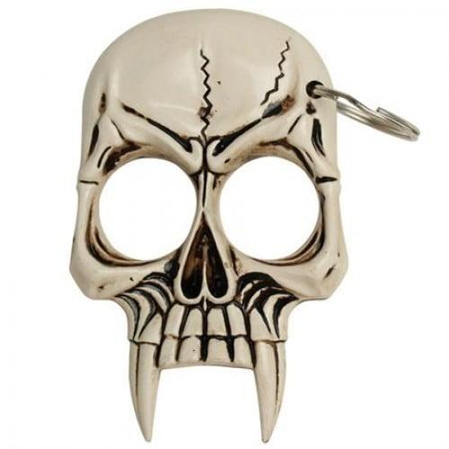 Skull Self Defense Keychain - Bone