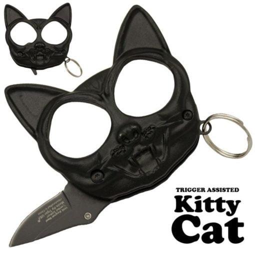 Kitty Cat Punch Fist Hidden Knife